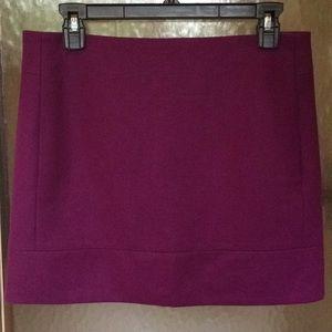 J. Crew Double-Serge Magenta Wool Mini Skirt 4